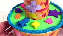 PEPPA PIG VERJAARDAGS TAART VAN PLAYDOH SPEELGOED KLEI FILMPJE BIRTHDAY CAKE