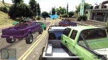 GTA 5 Funny Moments   Bumpy Truck Race   GTA V Online   Grand Theft Auto San Andreas