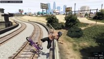 GTA 5 - Bmx Epic stunts (Grinds, Fails, WTF) 100% FUN