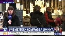 Une messe en hommage à Johnny à l'église de la Madeleine, à Paris