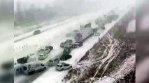 Trampa mortal de hielo y niebla: accidente en cadena
