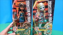 Monster High Ghouls Beast Pet Dolls Cleo De Nile & Lagoona Blue w/ Cat & Turtle Unboxing Toy Review