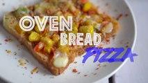 Cheesy and Crunchy oven bread pizza | oven bread recipe | oven bread pizza | tasty foods | 4k