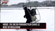 Il fait du ski en paramoteur au bois de Boulogne et dépasse les 70kmh