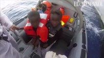 Vídeo en primera persona: así salvan vidas los soldados españoles en el Mediterráneo