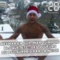 Neymar en slip, Marquinhos bloqué, etc.: Les joueurs du PSG surpris par la neige