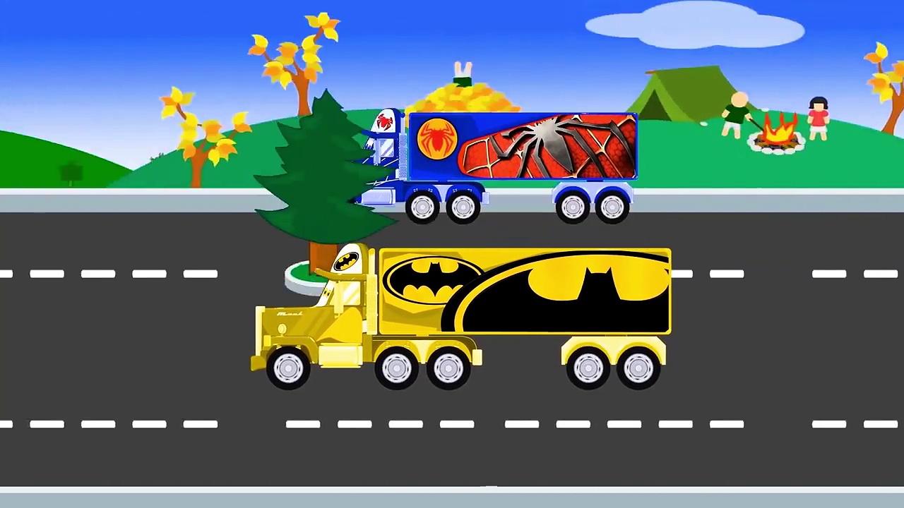Моnster Trucks – Superheroes Big Trucks Cartoon For Children – Trucks Compilation – Video For Kids