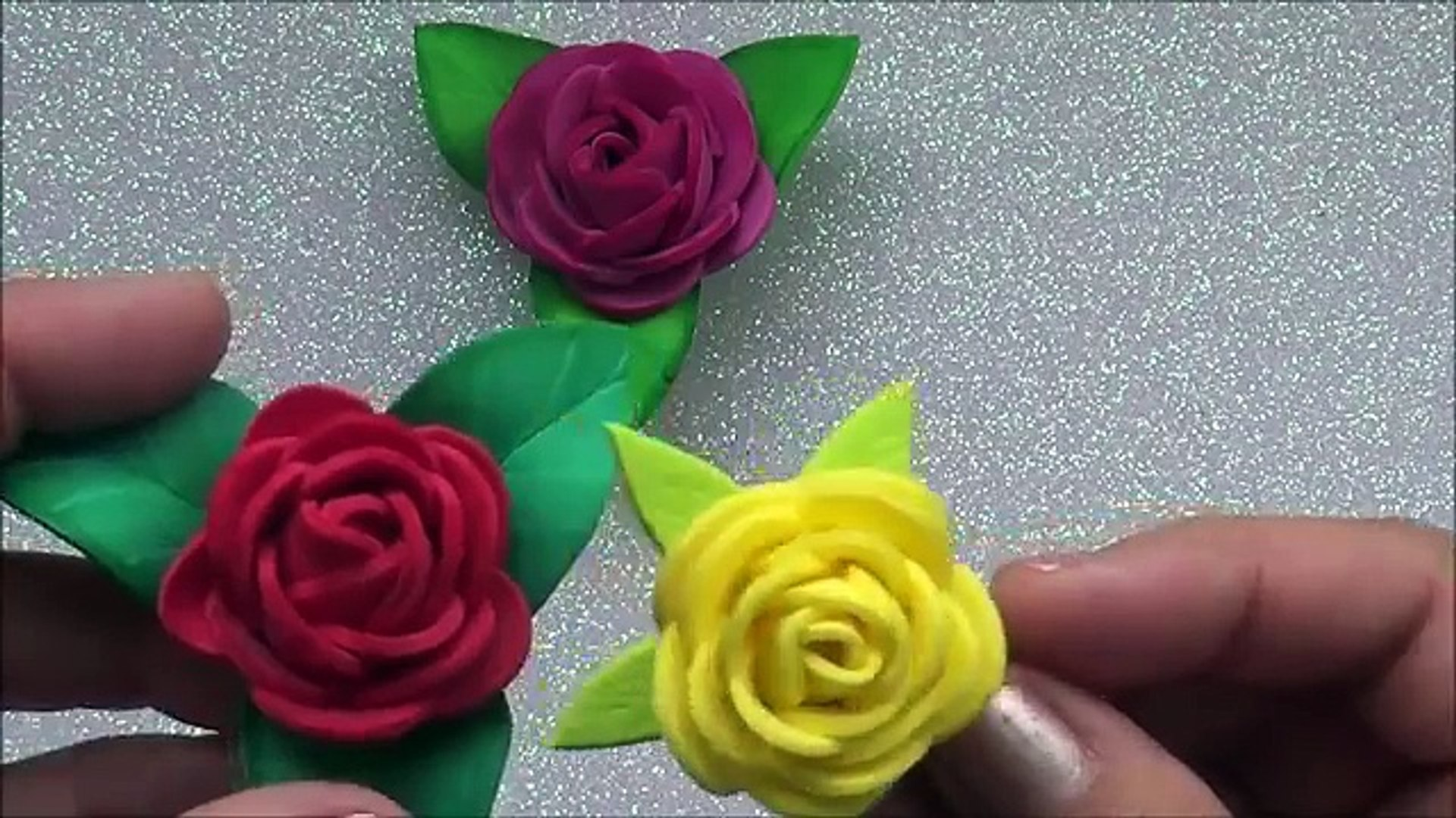 ROSAS PEQUEÑAS DE FOAMY O GOMA EVA.- SMALL FOAM ROSES. - Vídeo Dailymotion