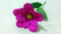How To Make Simple Crepe Paper Flowers Flower Making Of Crepe
