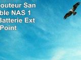 HooToo Lecteur de Disque Dur Routeur Sans fil portable NAS 10400mAh Batterie Externe Point