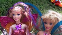 Elsa and Anna are Fairies #2 Anna and Elsa Toddlers real Barbie Fairies Flying Frozen Toys In Action