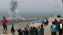 Savaş Uçakları Bomba Yağdırdı Suriyeliler Sevindi