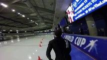 Dans la peau d'un patineur de vitesse, sensations garanties !