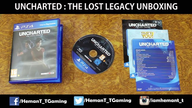 Uncharted The Lost Legacy (PS4) Unboxing Standard Edition - Hindi Gaming!
