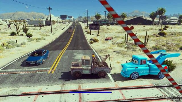GTA V - HOW TOW MATER DESTROYING TOKYO MATER (GTA 5 Disney Cars MODs)