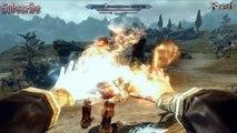 Skyrim - Werewolf vs Giant + The ghost Headless Horseman