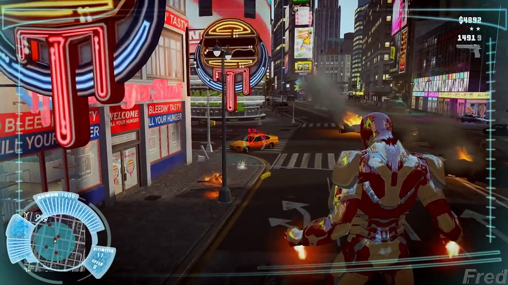 GTA IV Mods - Iron Man MOD For GTA IV Gameplay
