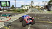 Grand Theft Auto V - NEW CARS DLC INDEPENDENCE DAY UPDATE MONSTER TRUCK IN GTA V