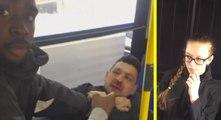 Ce péd0phile caressait les mains d'une jeune fille de 15 ans un bus de New York, puis il a glissé sa main entre ses cuisses. mais un jeune homme intervient pour la défendre...