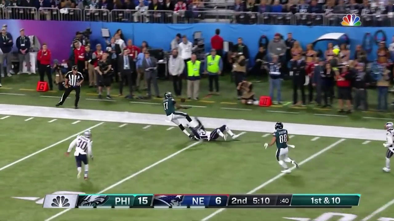 Duron Harmon Snags Pick Off Foles' Tipped Pass! | Can't-Miss Play | Super Bowl LII NFL Highlights