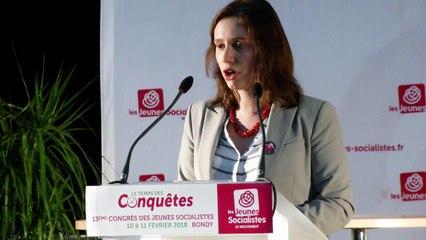 Le Temps des Conquêtes : discours de Roxane Lundy, nouvelle présidente des Jeunes Socialistes