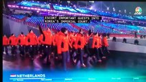 Opening Ceremony 2018 Olympics - Katie Couric (NBC) about the Netherlands and ice skating
