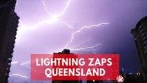 Spectacular footage of lightning storm striking Australian city