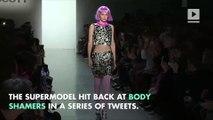"Gigi Hadid Blasts Weight Critics Calling Her ""Too Skinny"""