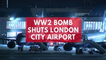 London City Airport shut as unexploded WW2 bomb found