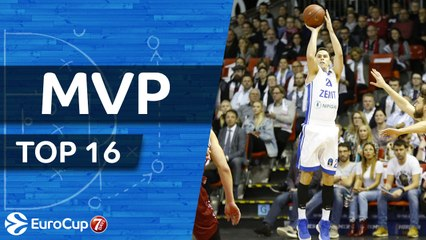 7DAYS EuroCup Top 16 MVP: Kyle Kuric, Zenit St Petersburg