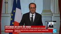 "Nice attack - French President François Hollande addresses nation: ""France is horrified"""