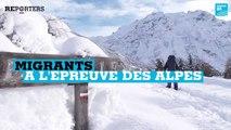 """""""Coincé pieds nus dans la neige"""" -  Migrants : À l'épreuve des Alpes"""