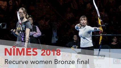 Jin Yun v Lisa Unruh – Recurve Women's Bronze Final | Nimes 2018