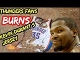 Fans burning kevin durant jersey due Kevin Durant sign Golden state Warriors - kevin durant memes