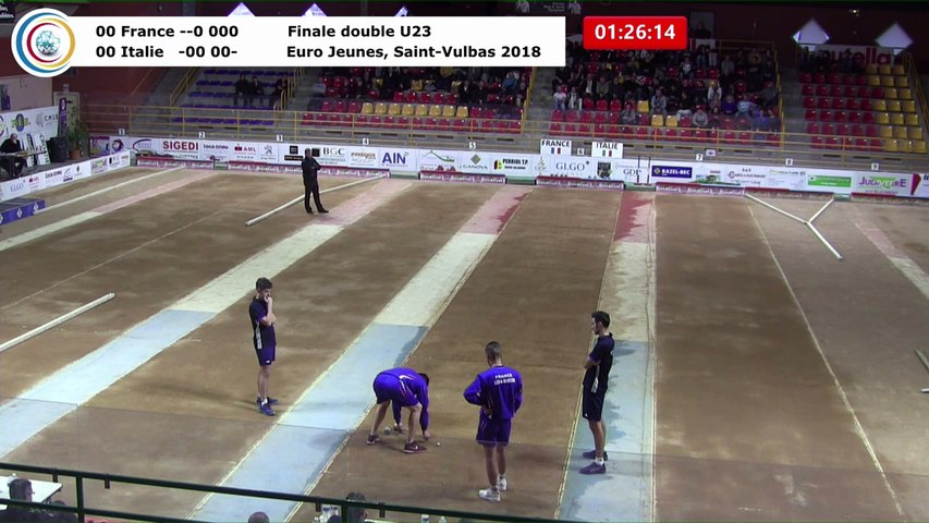 Finale double U23, Euro Jeunes,  Saint-Vulbas 2018
