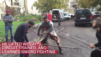Watch: Get a behind-the-scenes look at Tom Cullen's 'Knightfall' sword training