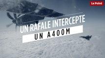 Un Rafale intercepte un A400M