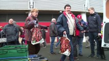 Boro fans showed their support for a Teesside food bank during the weekend's home game