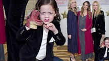 Photobomber! Rachel Zoe's son Kai expertly upstages his fashionista mom as she poses with Jessica Alba and Molly Sims