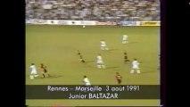 03/08/91 : Junior Baltazar (72') : Rennes - Marseille (1-2)