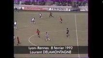 08/02/92 : Laurent Delamontagne (76') : Lyon - Rennes (3-1)