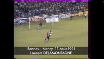17/08/91 : Laurent Delamontagne (37') : Rennes - Nancy (3-1)