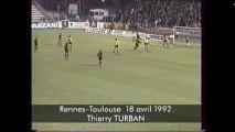18/04/92 : Thierry Turban (67') : Rennes - Toulouse (1-1)