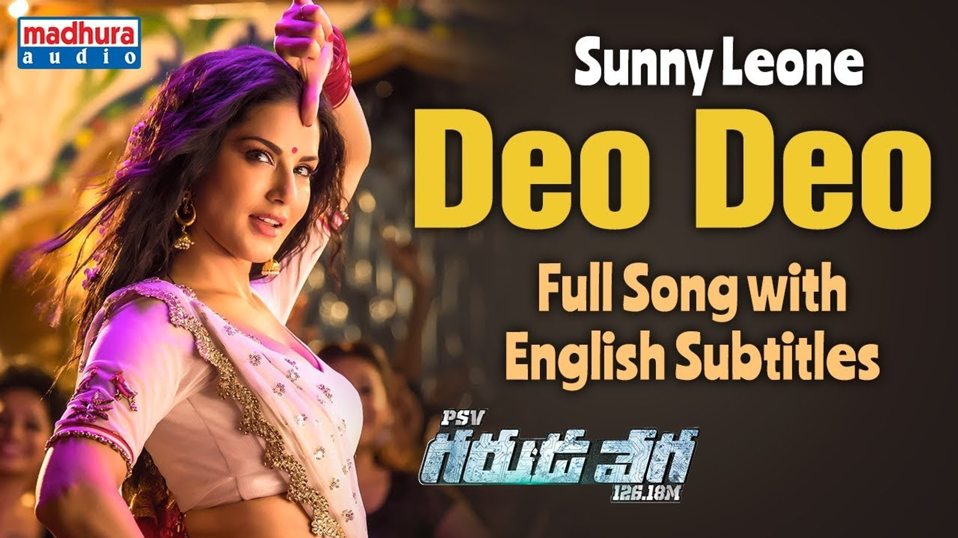 Sunny Leone's Deo Deo Full Video Song With English Subtitles PSV Garuda  Vega Movie Rajasekhar