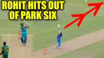 India vs South Africa 5th ODI : Rohit Sharma hits out of park sixer on Rabad's bowl | Oneindia News
