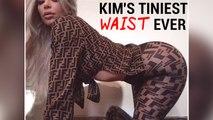 Kim Kardashian Flaunts 24-Inch Waist | Kim's Tiniest Waist Ever | Stormi