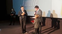 Paul-Olivier Delannois décerne le titre de Citoyen d'Honneur de la Ville de Tournai à Dany Boon