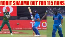 India vs South Africa 5th ODI : Rohit Sharma dismissed for 115 runs | Oneindia News