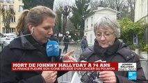 Mort de Johnny Hallyday : une journée d''hommages spontanés à Marnes-la-Coquette