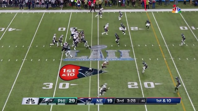 Super bowl - Tom Brady Fires a TD to Chris Hogan to Cut Philly's Lead!  Eagles vs. Patriots  Super Bowl LII